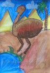 Emu – Oil Pastel Scratch Art Lesson